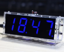 Compact 4-digit DIY Digital LED Clock