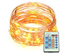 20m/66ft 200 LEDs Outdoor Copper String Wire Lights