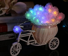 40LEDs Battery-operated Snowball Fairy String Light