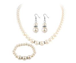 3 Pcs Stylish Elegant Pearl Jewelry Set