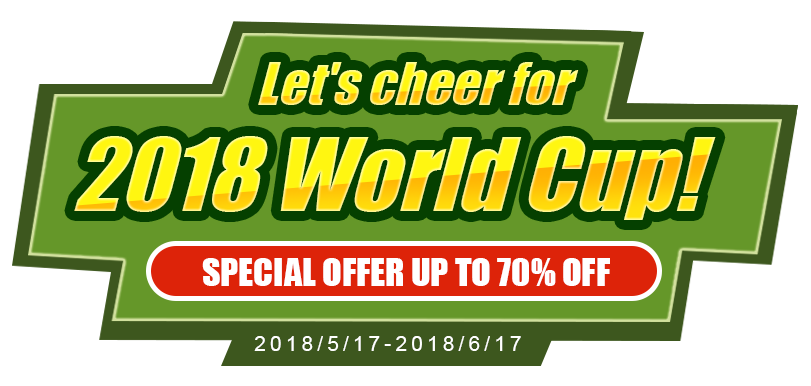 Let's cheer for 2018 World Cup!