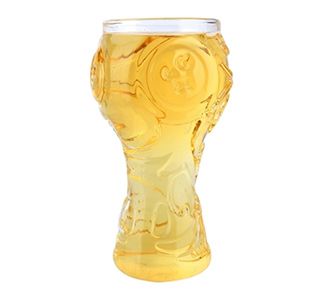 World-Cup Design Glass Cup