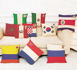 2018 World Soccer Cup Pillow Case