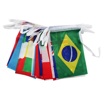 Crazy Cup String National Flag Set