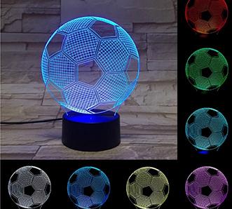 3D Football Soccer Illusion Lamp