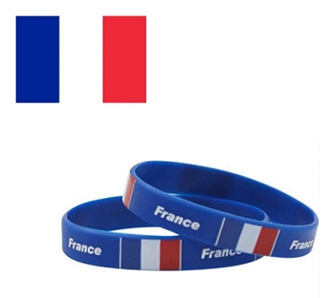 National Flags Silicone Wristbands