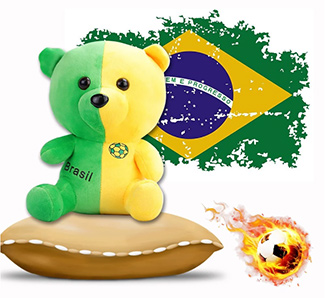 2018 World Cup National Flags Bear