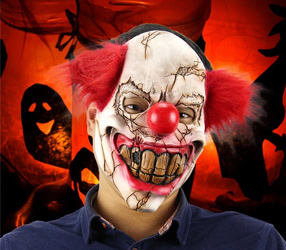 Latex Full Face Scary Clown Maske