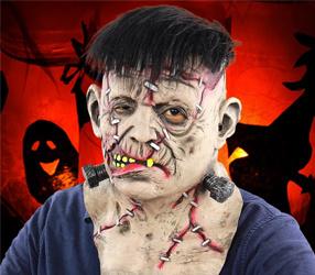 Latex Vollkopf Hals Toothy Bloody Freak Maske