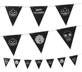 Glückliches Halloween-hängende Papierfahne