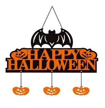 Halloween Non-Woven Banner Fledermaus Kürbis Elemente