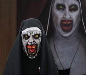 Teufel Cosplay Nonne Valak Maske
