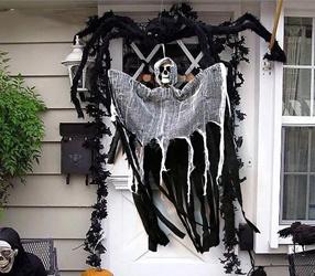 Halloween hängenden Geist Life Size Skull Grimasse