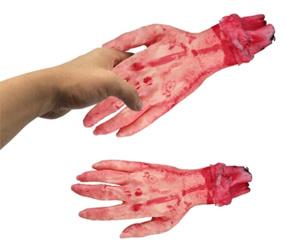 Simulation Lebensgroße gruselige schreckliche abgebrochene gebrochene Hand
