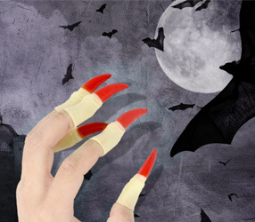 10 teile / satz Halloween Requisiten Thriller Scary Nail Covers