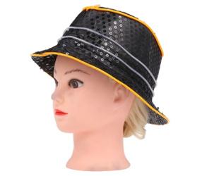 Cool Bling Pailletten LED leuchten glühenden Hip Hop Jazz Hat