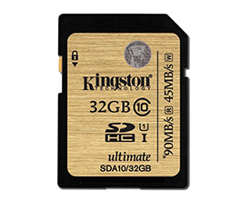 Kingston SDA10 32GB Class 10 Memory Card